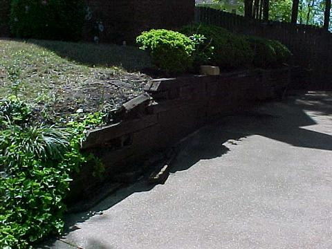 Retaining Wall Before Installation