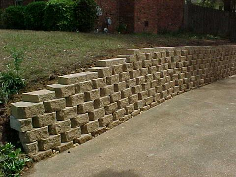 Retaining Wall After Installation